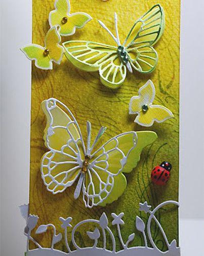 PanPastels, Memory Box Dies and Spellbinders Butterflies