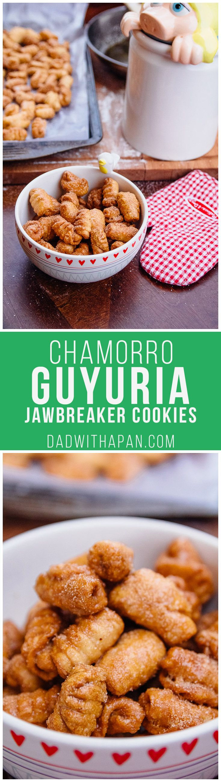 Guyuria - Chamorro Jawbreaker Cookies - easy buttery spread swap to make these dairy-free, too!
