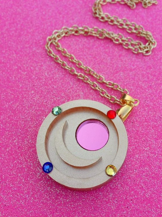 Sailor Moon Transformation Brooch Necklace from Geeky Wears on Etsy
