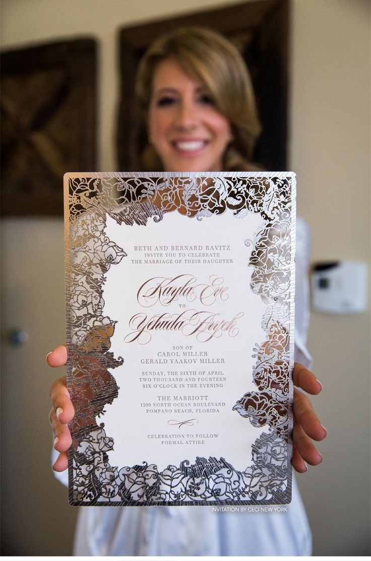 CeciStyle Magazine-Our Muse - Blush and Pewter Wedding - Be inspired by Kayla and Hudi's blush-and-pewter wedding in Pompano Beach, Florida - wedding, invitati...