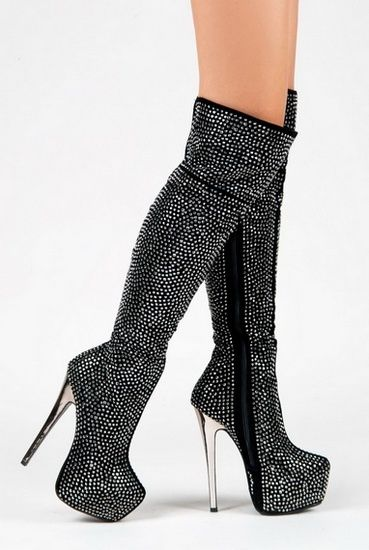 glitter boots #high #heels #boots *Visit board - best shoes, boots  heels ♡ send me a message to be added*