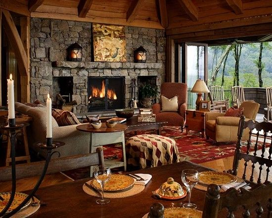 Cabin great room634 best living room  great room  fireplace images on Pinterest  . Great Room With Fireplace. Home Design Ideas