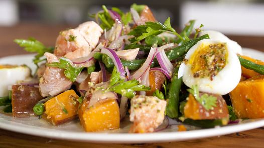 Salmon Nicoise, by Janella Purcell. Tried and Tested, absolutely delish :)