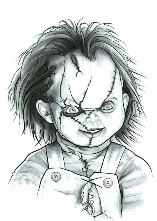 chucky childs play  scary drawings horror drawing