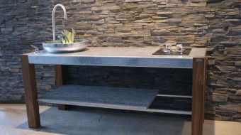 THORS Savra with sink and gasburner #outdoorliving #outdoorkitchens