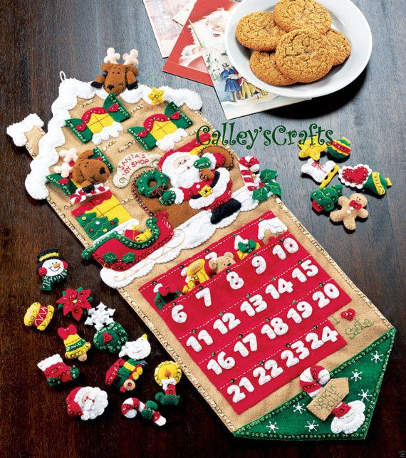 Bucilla Santa's Toy Shop Felt Christmas Advent Calendar