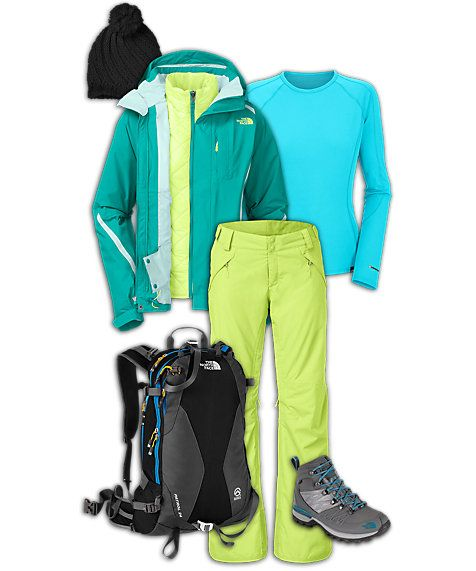 The North Face Women's Skiing Outfit