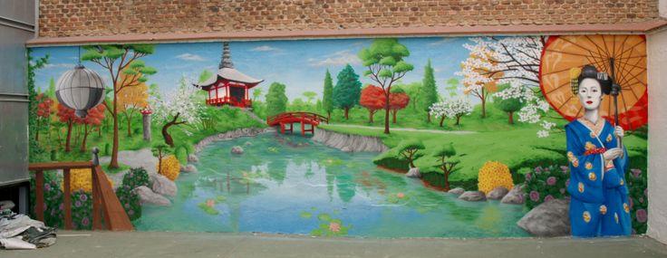 Mural decorativo, feng shui, Madrid 2012, más trabajos similares en: http://murea.es/decorativos-y-exteriores/