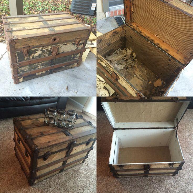 Best 25+ Old trunk redo ideas on Pinterest   Trunk redo ...