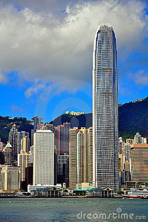 Hong kong skylines during day time, a view from the kowloon island