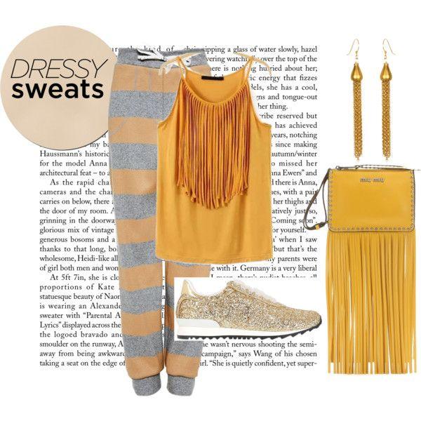 dressy sweats by baebaoni-bijoux on Polyvore featuring moda, Katie Ermilio, Casadei and Miu Miu