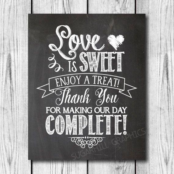 Chalkboard Wedding Sign Printable Wedding by SugarHillGraphics