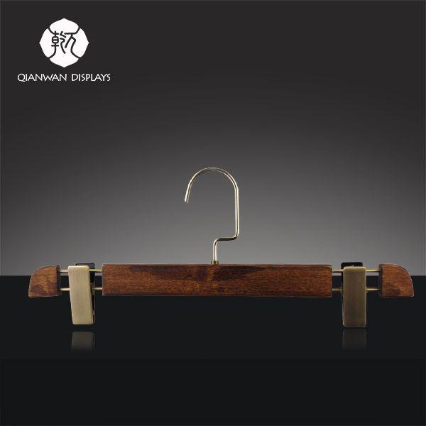 Best Wooden Pants Hanger | QianWan Displays #WoodenPantsHanger #WoodenHanger #PantsHanger #Hanger