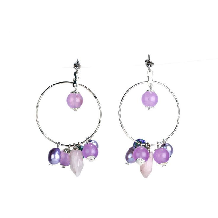 Lilac earrings by Excessjewellery on Etsy