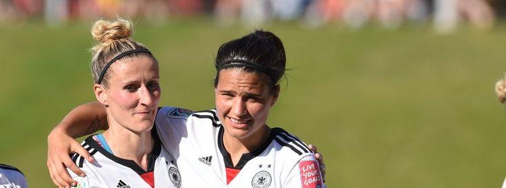 DFB-Spielerinnen Mittag (l.), Marozsán: Etappenziel erreicht
