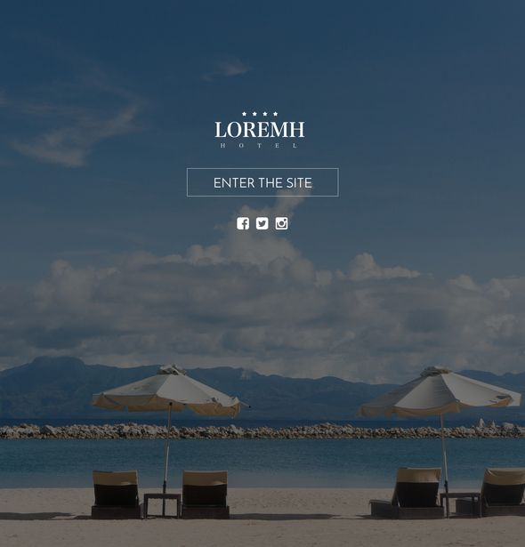 Black & Gold Hotel Website Template, Sketch Design