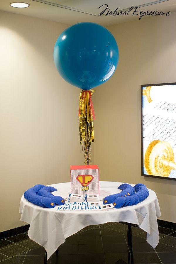 Tassel balloon centerpiece idealpartydecorators
