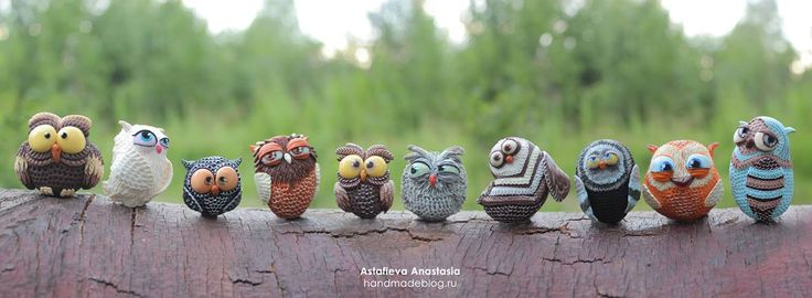 Handmadeblog, polymer clay. Совята Анастасии Астафьевой