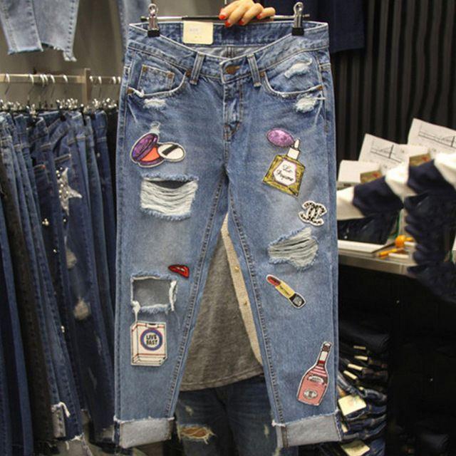 M s de 25 ideas incre bles sobre pantalones vaqueros para for Agujeros femeninos