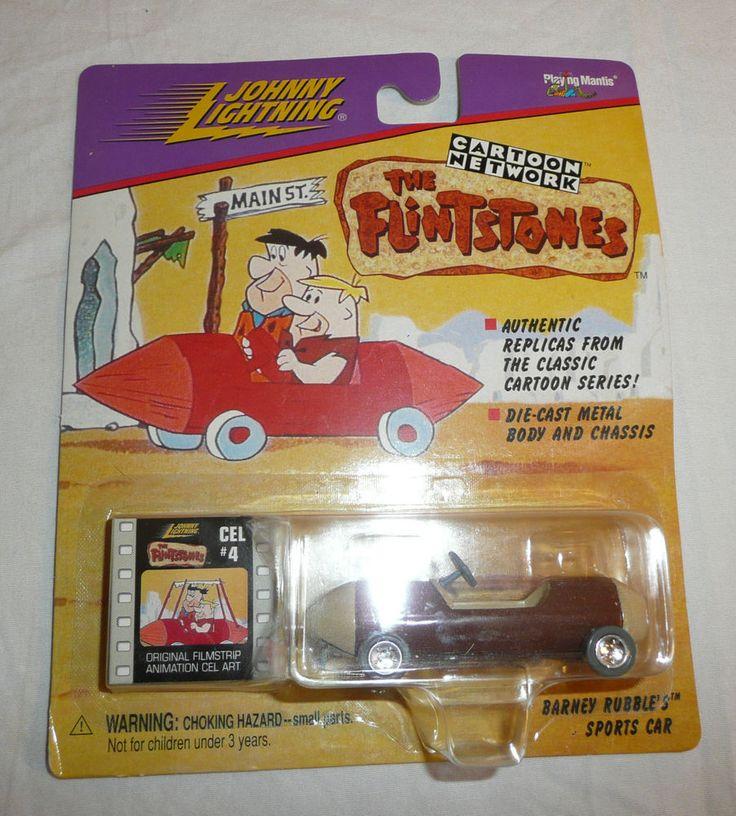 Barney Rubble's Sports Car Johnny Lightning Cartoon Network Cel 4 Flintstones