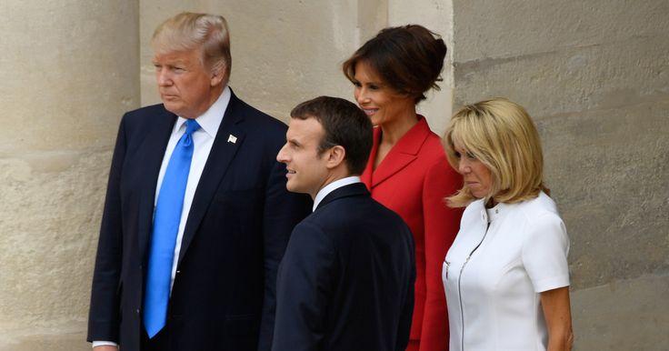 Le président américain est arrivé jeudi matin à Orly. Il assistera vendredi au défilé du 14-Juillet.
