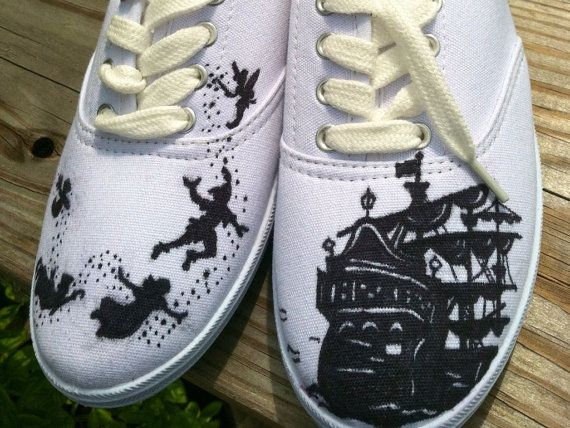 Custom hand painted acrylic vans style  womens by ncfcustomkicks, $70.00