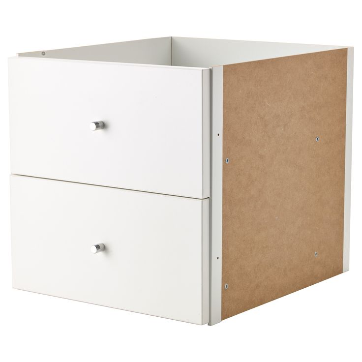 kallax insert with 2 drawers white. Black Bedroom Furniture Sets. Home Design Ideas