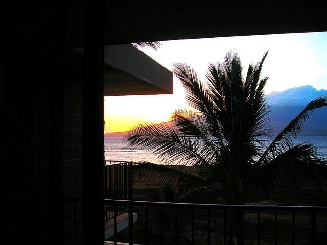 Sunstruck...photo taken from the lanai on a Hawaiian vacation.