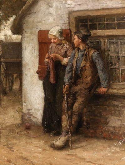 Bernardus Johannes Blommers Dutch Painter (1845-1914)
