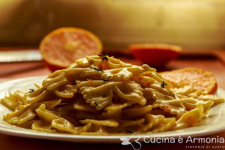 #Farfalle all' #arancia http://www.cucinaearmonia.com/2014/04/farfalle-allarancia.html #food #foodblogger #pasta #cucinaearmonia