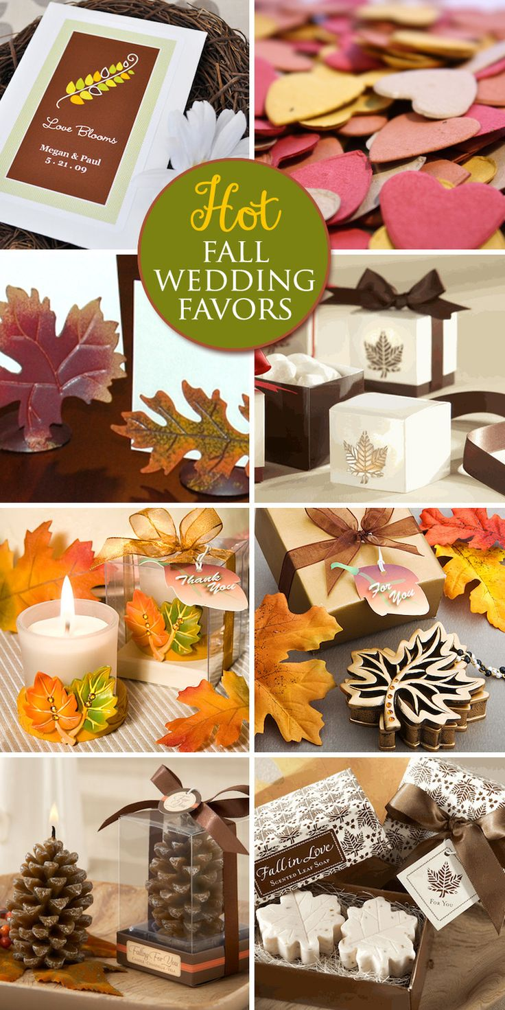 Hot #Fall #Wedding #Favors for 2013