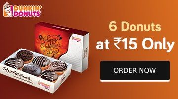 Dunkin Donuts deal is back!! Get 6 Donuts at just Rs. 15