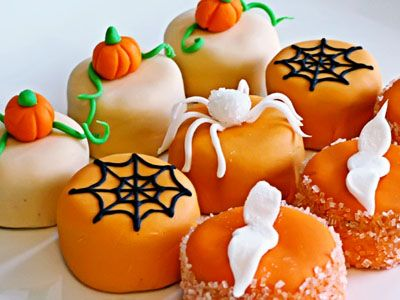 Sweet Halloween Petit Four Treats - recipe included!
