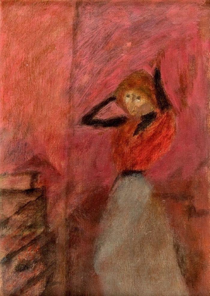 Piotr Potworowski - Kobieta w czerwonej bluzce, 1954 r.