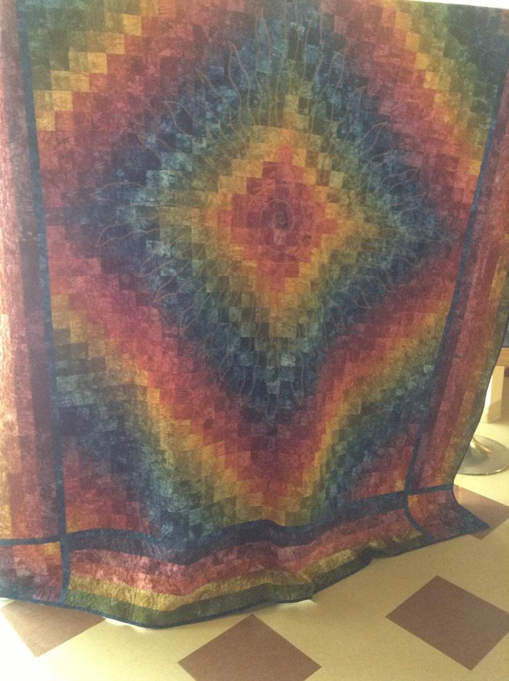 big handmade quilt