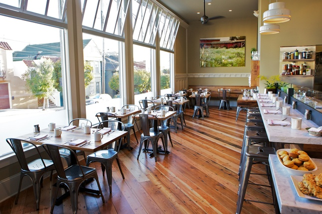 Plow SF. Great floors and farm to table feel