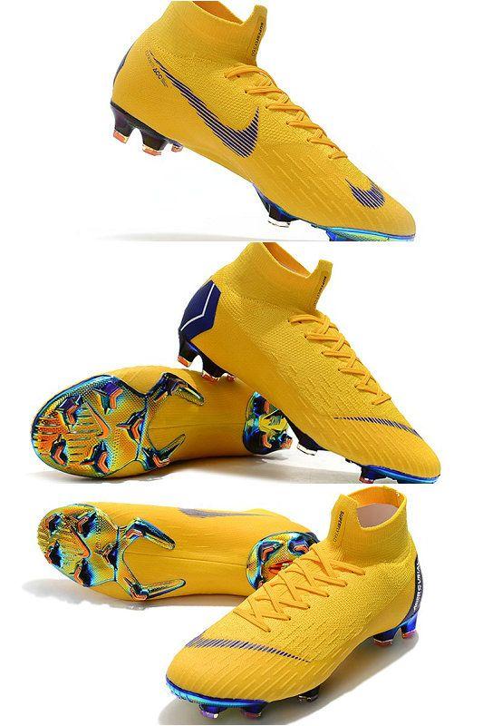 Nike Mercurial Superfly VI Elite FG Botas de Futbol - Amarillo Azul ... 890b1f11f8639