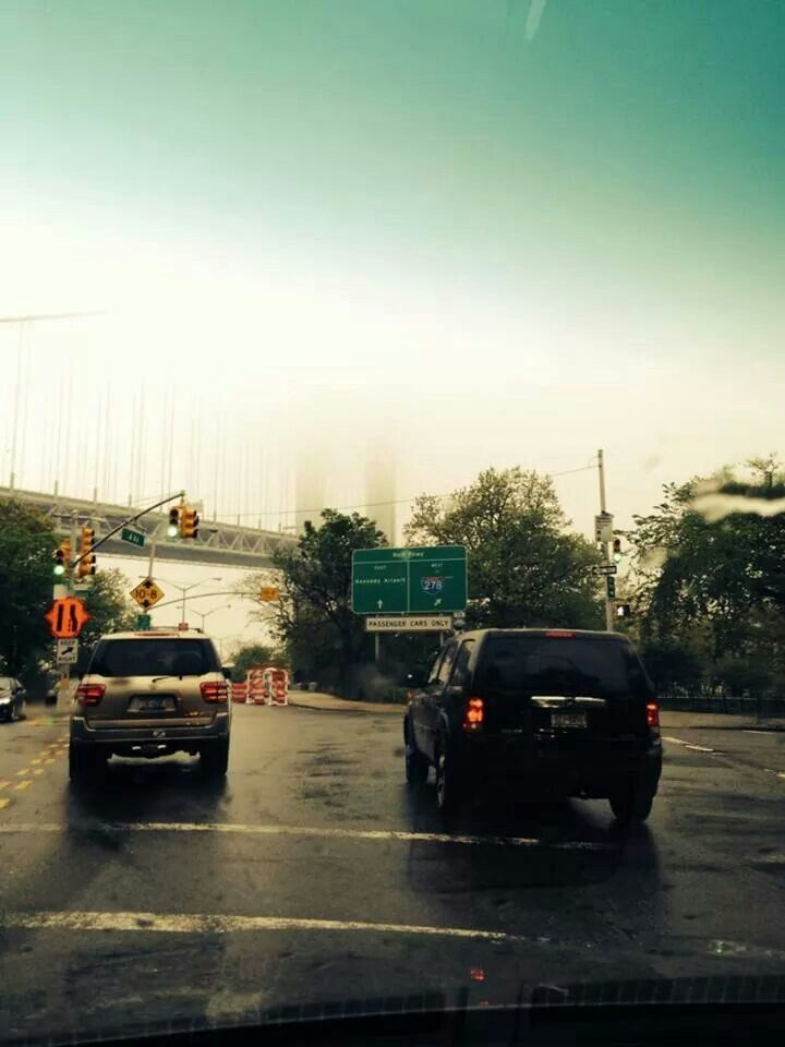 A foggy Verrazano Bridge... Photograph taken by my friend M.V. Crescenzo♥