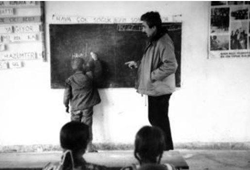 Şener Şen'in öğretmenlik yıllarındaki fotoğrafları