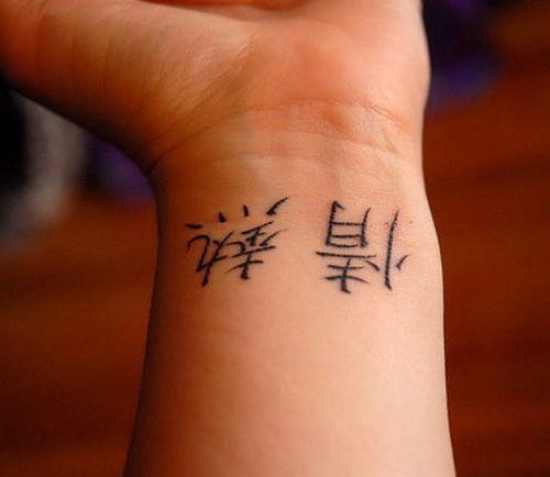 Kanji Tattoo: Kanji Tattoo Ideas On Wrist I Have A Kanji Lettered Tattoo