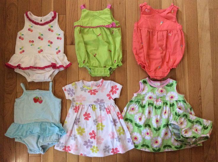 Baby Girl Lot 3 6 Mo Outfits Summer Dress Rompers Carter's Gymboree Koala Kids #CartersGymboreeKoalaBaby #EverydayDressy