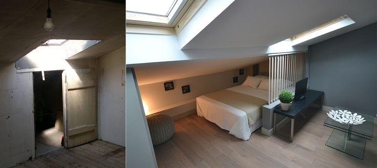 pin by alice merveille on sous pente pinterest. Black Bedroom Furniture Sets. Home Design Ideas