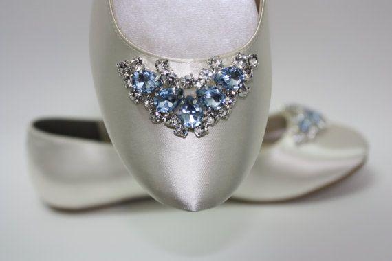 Wedding Shoes  Ballet Flats  Wedding Flats  Blue by Parisxox, $156.00