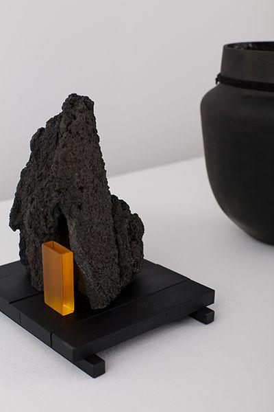 de natura fossilium-glasses - Formafantasma; made of mount etna lava and murano glass