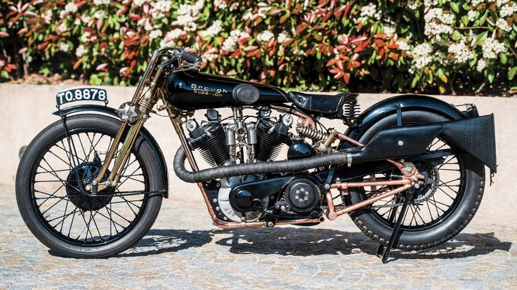 """The Brough Superior SS100, nicknamed """"Moby Dick"""" by Motor Cycling (UK) magazine in 1931, went to..."""