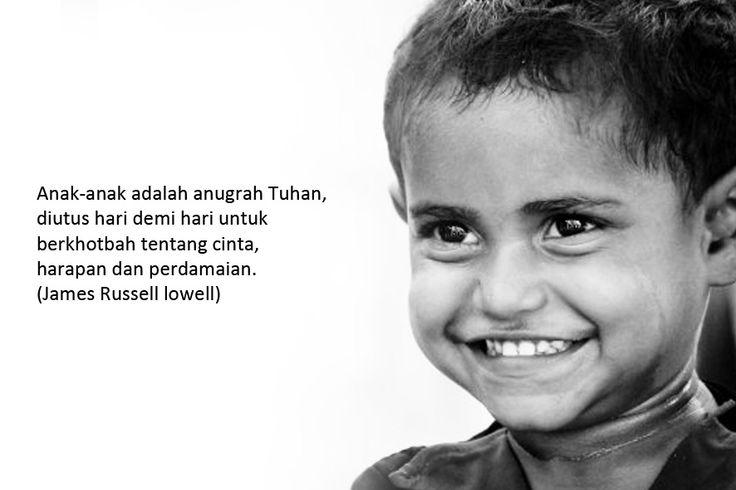Anak-anak adalah anugrah Tuhan, diutus hari demi hari untuk berkhotbah tentang cinta, harapan dan perdamaian.  (James Russell lowell)  Gambar: The-shooting-star.com Klik > http://bit.ly/1qYtlpz