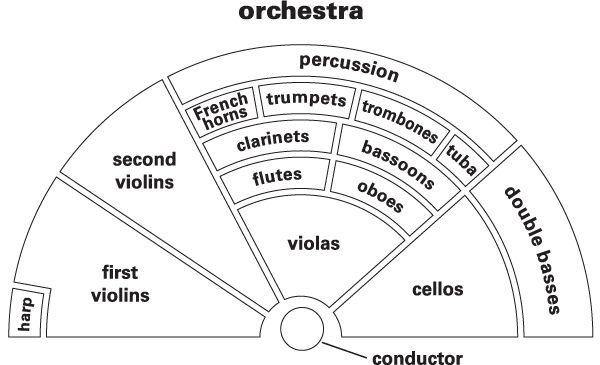 Orchestra - Definition for English-Language Learners from Merriam-Webster's Learner's Dictionary