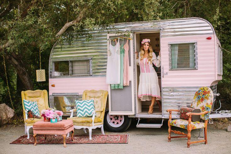 Sweet vintage trailer.