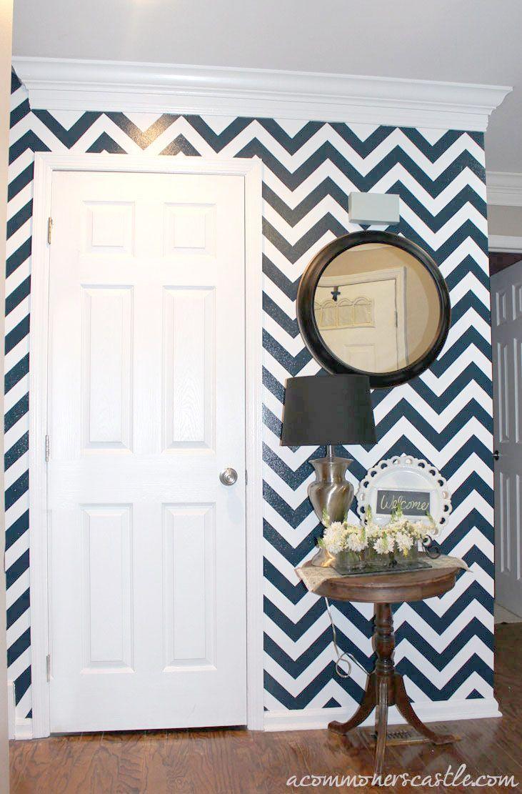 How to Paint Chevron StripesChevron Walls, Stripes Wall, Guest Bathroom, Painting Chevron, Painting Wall, Striped Walls, Painting Tutorials, Accent Walls, Chevron Stripes