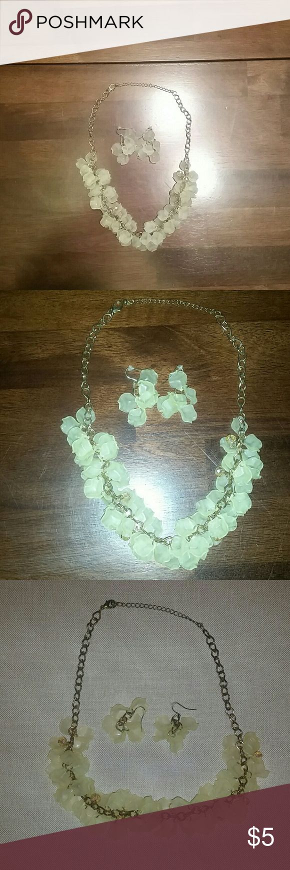 Charming Charlie yellow necklace and earring set Charming Charlie yellow necklace and earring set.  Worn once. Charming Charlie Jewelry Necklaces